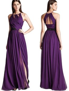 Monique Lhuillier Silk Ball Gown Beaded Cut-out Dress
