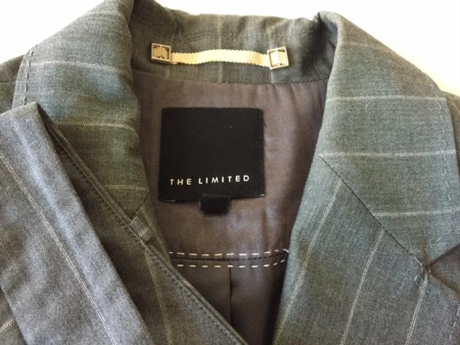 The Limited Gray Pinstriped Women's Suit by The Limited Image 3