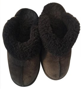 UGG Australia Ugg Slippers Chocolate Dark Brown Mules