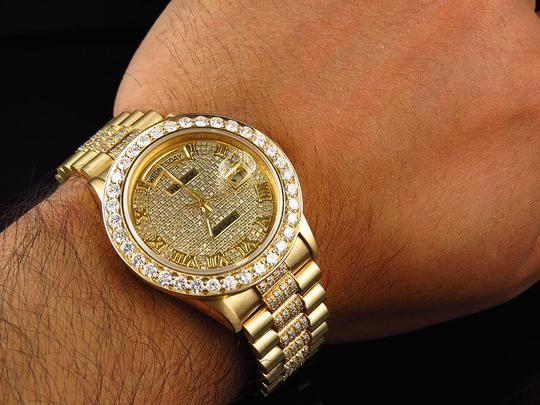 Rolex Rolex President 18038 18k Yellow Gold Day-Date with 11.5 Ct Diamond Image 11