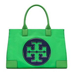 Tory Burch Tote in court green/ royal navy