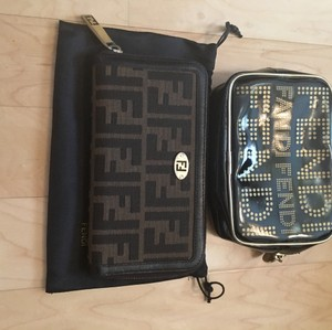 Fendi Fendi zucca FF wallet with cosmetic pouch