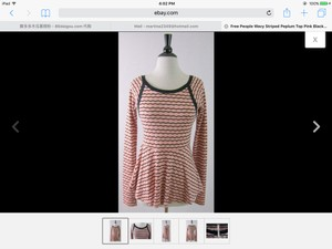 Free People Top Pink & black