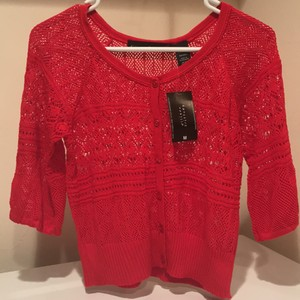 Allison Brittney Button Down Shirt red