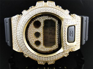 Casio G Shock Yellow Gold finish with Clear Simulated Diamond 6900 Watch