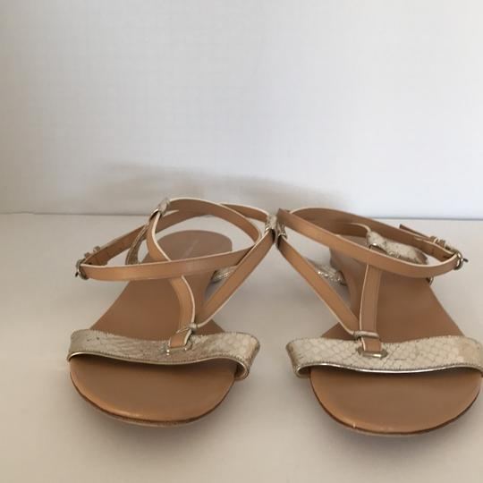 Devi Kroell Tan and Gold Sandals Image 1