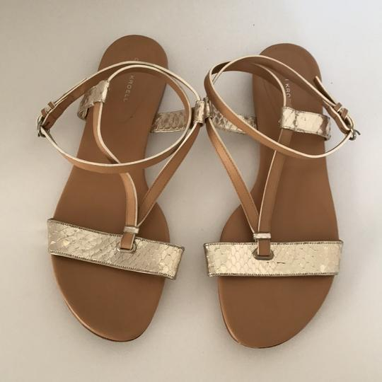 Devi Kroell Tan and Gold Sandals Image 2