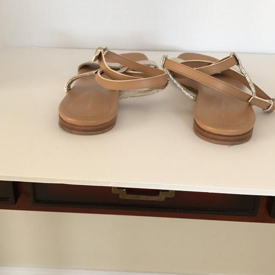 Devi Kroell Tan and Gold Sandals Image 3