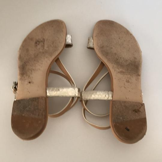 Devi Kroell Tan and Gold Sandals Image 4