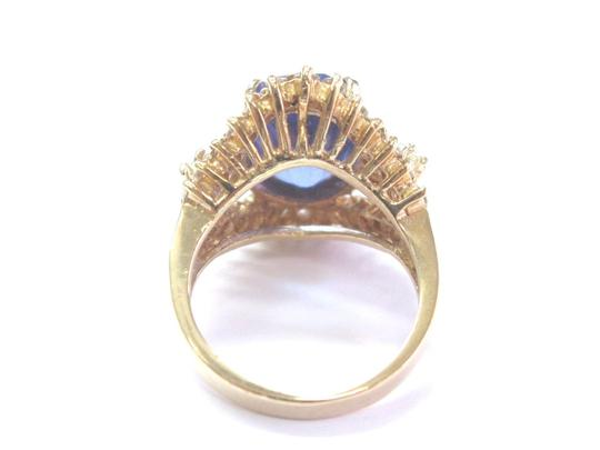 Other Fine Oval Tanzanite Diamond 14Kt Yellow Gold Solitaire W Accent Ring 6 Image 2