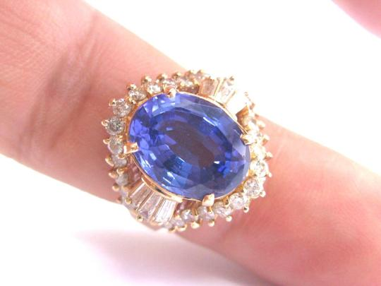 Other Fine Oval Tanzanite Diamond 14Kt Yellow Gold Solitaire W Accent Ring 6 Image 3