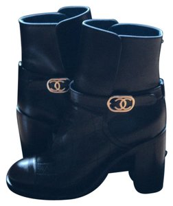 Chanel BLACK BROWN Boots