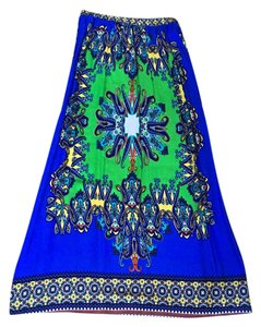 Other Maxi Skirt blue, green, yellow, red