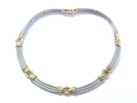 Charriol 18Kt & SS Philippe Charriol Wire Necklace/Bracelet/Earrings Jewelry Se Image 3