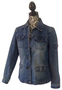 Liz Claiborne medium wash denim Womens Jean Jacket
