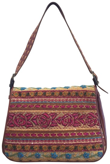Preload https://img-static.tradesy.com/item/21000230/isabella-fiore-vintage-boho-chic-tan-leather-with-multicolor-embroidery-and-beading-cloth-hobo-bag-0-3-540-540.jpg