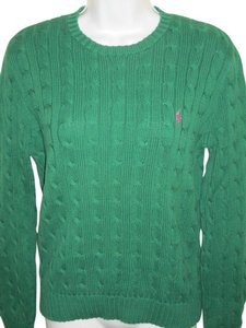 Ralph Lauren Blue Label Crewneck Cable Knit Spring Sweater