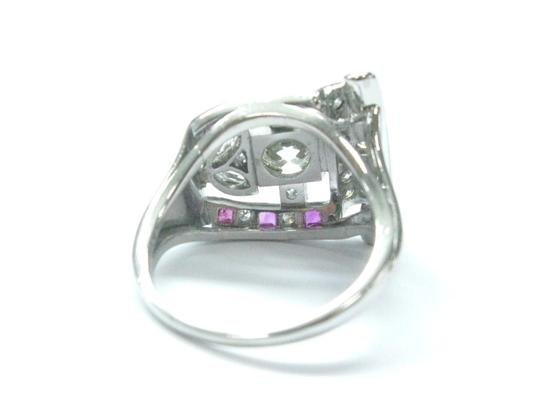 Other Platinum Vintage Gem Ruby Old European Cut Diamond Jewelry Ring 1.39CT Image 2