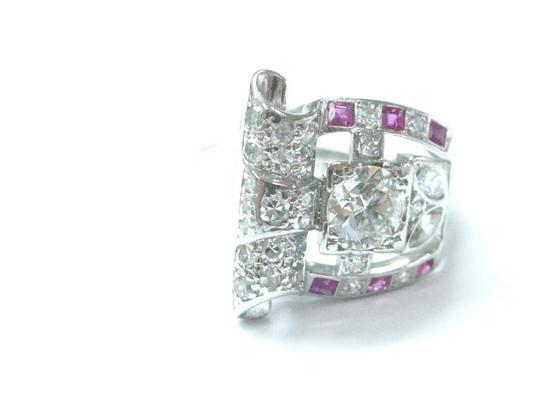 Other Platinum Vintage Gem Ruby Old European Cut Diamond Jewelry Ring 1.39CT Image 4