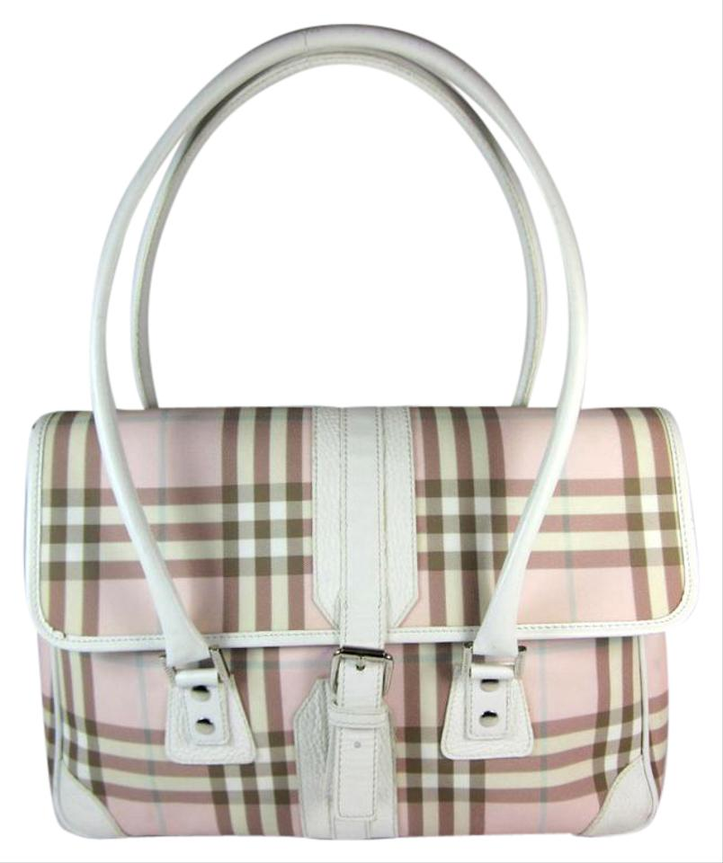 df016bf509 Burberry London White Leather & Pink