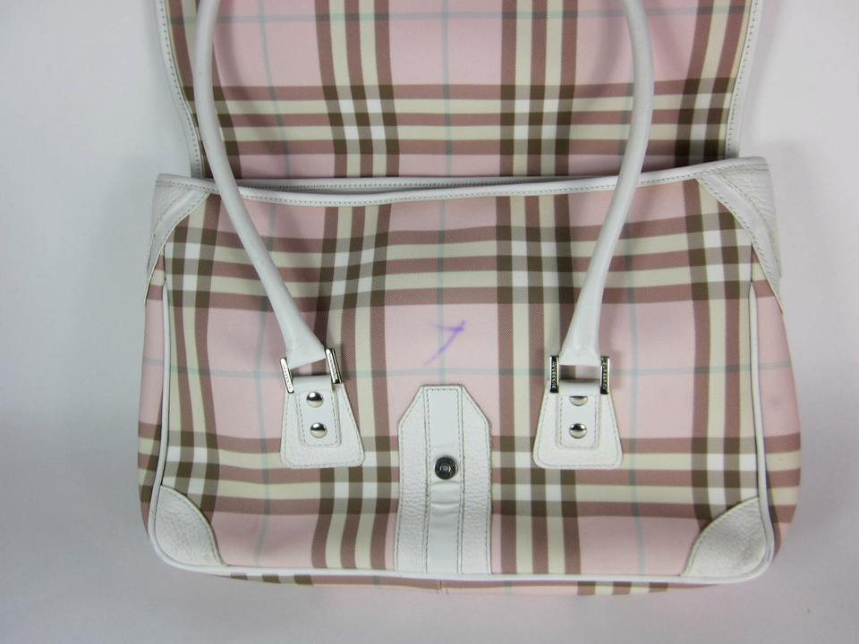 6412d45c89 Burberry London Leather Nova Pink Medium Tote in White Image 11.  123456789101112