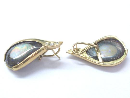 Other 18Kt Opal Diamond Pendant & Earrings Yellow Gold .50Ct Image 5