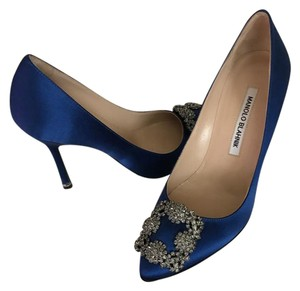 Manolo Blahnik Colbalt Blue Formal