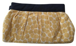 1154 Lill Studio Linen Dot One Of A Kind Yellow Polka Dots with Black Lining Clutch
