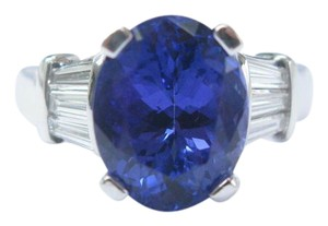 Other 18Kt Gem Tanzanite Diamond Anniversary Solitaire W Accents Jewelry Rin