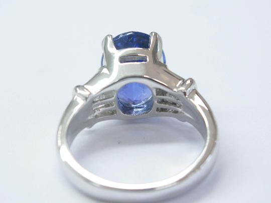 Other 18Kt Gem Tanzanite Diamond Anniversary Solitaire W Accents Jewelry Rin Image 1
