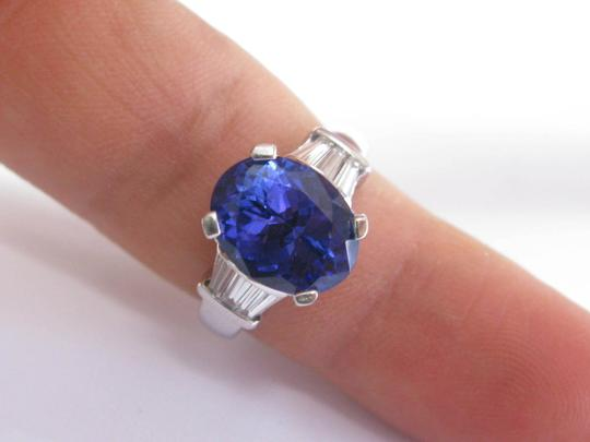 Other 18Kt Gem Tanzanite Diamond Anniversary Solitaire W Accents Jewelry Rin Image 4