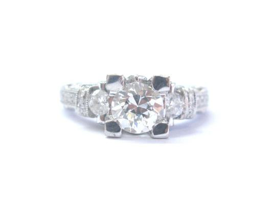 Other 18Kt Old European Cut Diamond Engagement Jewelry Milgrain Ring 1.75Ct Image 0