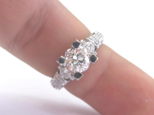 Other 18Kt Old European Cut Diamond Engagement Jewelry Milgrain Ring 1.75Ct Image 2