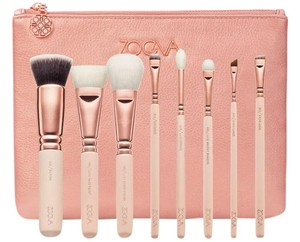 ZOEVA Rose Golden Luxery Set Vol. 2 8 Brushes + Clutch New in Box
