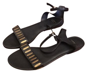 Cole Haan Black with brass hardware Sandals