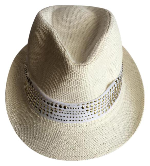 Item - Off White Fedora with Band Hat