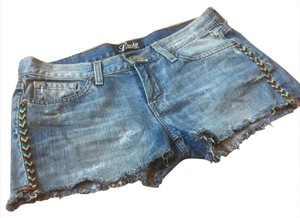 Lucky Brand Cut Off Shorts Denim, Blue, White, Black, Red, Green, Yellow