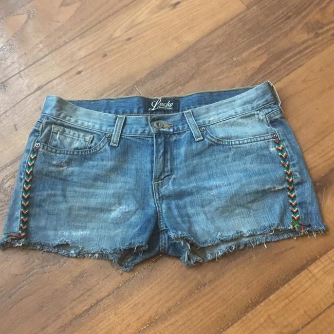Lucky Brand Cut Off Shorts Denim, Blue, White, Black, Red, Green, Yellow Image 1