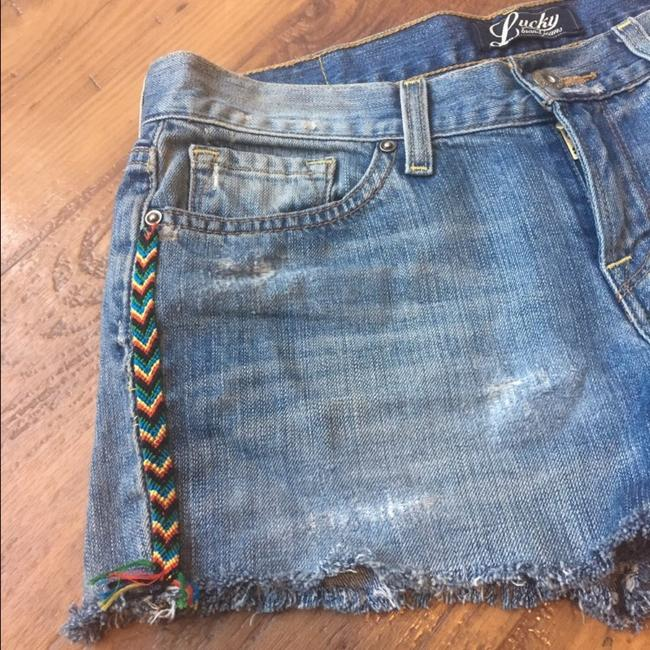 Lucky Brand Cut Off Shorts Denim, Blue, White, Black, Red, Green, Yellow Image 2
