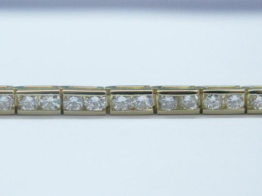 Other Fine Round Diamond Tennis Bracelet YG 14KT 5.26CT 7.5