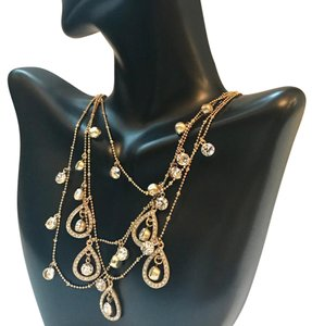 beautiful ABS gold tone layer necklace $98 Gold