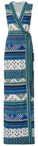 white and blue Maxi Dress by Diane von Furstenberg