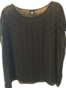 Bobeau Studded Top Black
