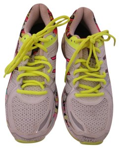 Asics Gel Kayano White, neon green, pink Athletic