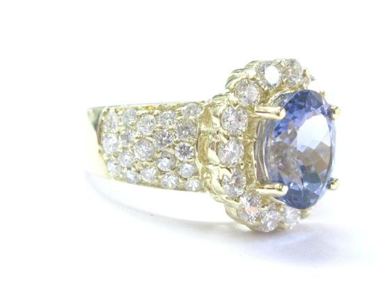 Other 18Kt Gem Tanzanite Diamond Yellow Gold Jewelry Ring 5.12Ct Image 1