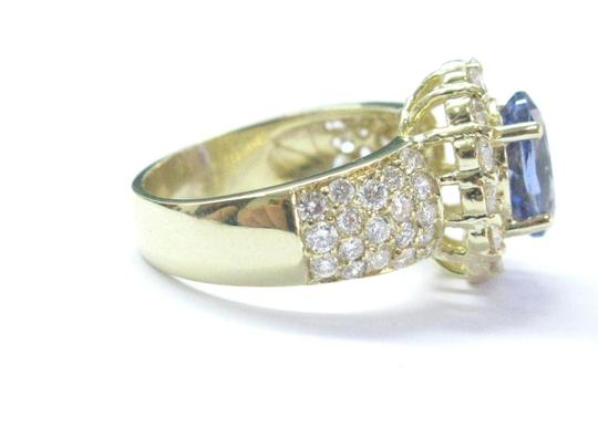 Other 18Kt Gem Tanzanite Diamond Yellow Gold Jewelry Ring 5.12Ct Image 3