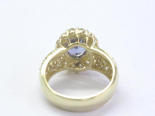 Other 18Kt Gem Tanzanite Diamond Yellow Gold Jewelry Ring 5.12Ct Image 4