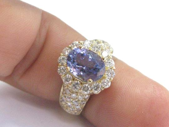 Other 18Kt Gem Tanzanite Diamond Yellow Gold Jewelry Ring 5.12Ct Image 5
