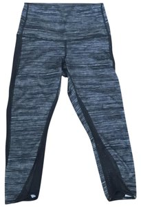 Lululemon high wasted stripped and mesh cropped pants