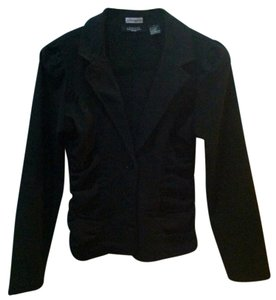 Liz Banks Ruching Business Black Blazer